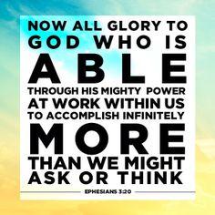 God is able. @thewordapp #Jesus #scripture #Christian #devotion #day2 / http://www.contactchristians.com/?p=9697