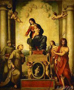 Correggio - Madonna of St.Francis /Correggio/ c.1514