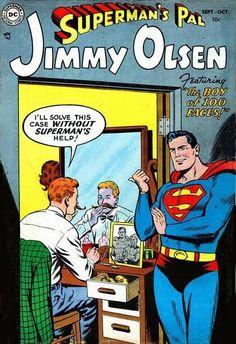 "Issue 1 of the comic ""Superman's Pal Jimmy Olsen"", October 1954 Old Comics, Dc Comics Art, Vintage Comics, Superman Family, Superman Comic, Superman Stuff, Batman, Dc Comic Books, Comic Book Covers"