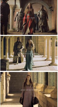 a queen you shall be ... Cersei Lannister, Margaery Tyrell and Sansa Stark, Game of Thrones (by thewarofthelions)