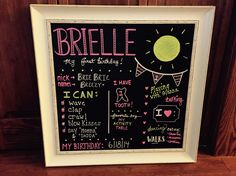 Brielle 1st birthday small chalkboard chalk ink first birthday chalk marker sunshine theme