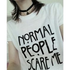 Normal people scare me t-shirt – Alternative fashion store: biker, gothic, rave, punk clothing and accessories