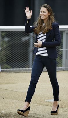 New Mom Kate Middleton Plays Volleyball in Platform Wedges in Support of SportsAid Charity