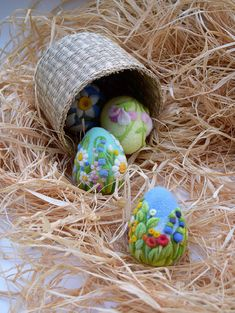 Easter Felted Eggs Easter Decorations Easter Gift by LifeandWool