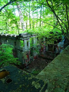 Remains of an abandoned theme park in CT called Holy Land