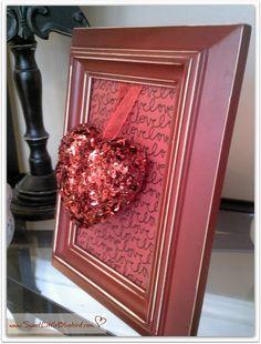 DIY Framed Valentine's Day Heart
