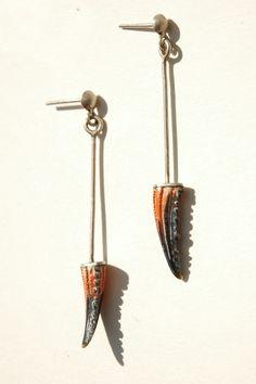 Juliette Decubber crab claw earrings