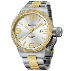 TW Steel Canteen Bracelet Yellow Gold Plated Silver Dial Automatic Men s  Watch CB35 Silver, Quartz 2a0e85416c