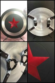 I can't tell if this is supposed to be a Winter Soldier shield or a Captain Hydra shield. - Visit to grab an amazing super hero shirt now on sale! Captain America Costume, Captain America Shield, Cosplay Tutorial, Cosplay Diy, Marvel Art, Marvel Avengers, Marvel Heroes, Armadura Ninja, Captain Hydra