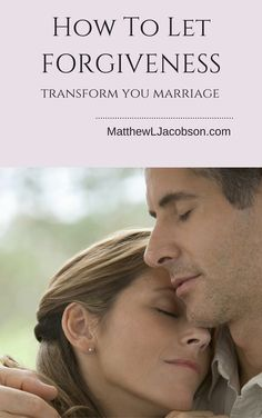 You can hang onto the pain of past wrongs or you can learn to allow forgiveness to transform your marriage into something deeper, richer, and stronger. It's your choice. MatthewLJacobson.com