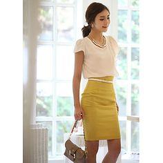 Kvinders høj talje Bodycon mini nederdel – DKK kr. 106