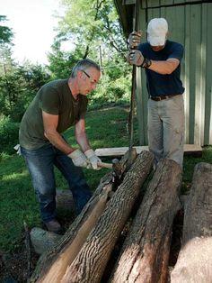 Making Half-Log Benches