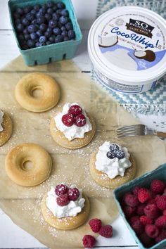 Vegan Mini Chantilly Cakes - with gluten-free sponge cake & dairy-free whip!