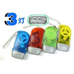 3 LED Flashlight linternas tactical Dynamo Wind Up Flashlight Hand-pressing Crank