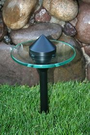 Or maybe this. But I think I like the silver finish better. Opentip.com: YardBright Modern Glass Path Light