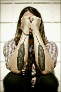 Dave Grohl Feather Tattoos