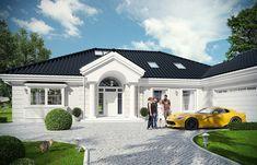 Projekt domu Rezydencja Parkowa 3 - 259,28 m2 - koszt budowy 361 tys. zł Simple House Design, Modern House Design, Philippines House Design, Philippine Houses, Modern Bungalow House, Modern Farmhouse Plans, Home Fashion, My Dream Home, Planer