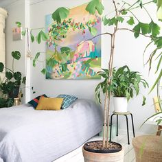 Una camera decisamente creativa! #LaCasaModerna #Green #Interior