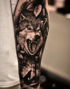 Check out the collection of lion Tattoo on hand with designs. We have the best collection of latest Lion Tattoo Designs. Wolf Tattoos, Hand Tattoos, Wolf Tattoo Forearm, Native Tattoos, Forarm Tattoos, Skull Tattoos, Animal Tattoos, Body Art Tattoos, Wolf Sleeve