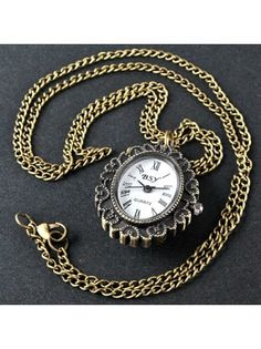Antique Queen Oval Pendant Pocket watch Necklace Chain