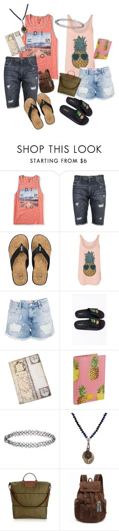 """""""couple travel"""" by boqueefqueef ❤ liked on Polyvore featuring Aéropostale, Dolce&Gabbana, UGG, Boohoo, Accessorize, Miracle Icons, Longchamp and Augur"""