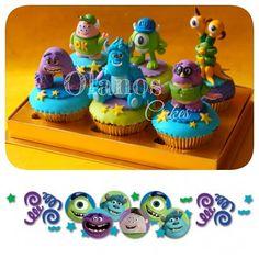 #cupcakes #custom #partyfavour #partygoodies #delicious #sweettable #fondant3D #caketopper #sugarart #olanoscakes #olanos #jakarta #monsteruniversity #pixar #disney #mikewazowsky #sully