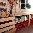"Hometalk :: Organizing (and installing a ""mudroom"" in) the Garage"