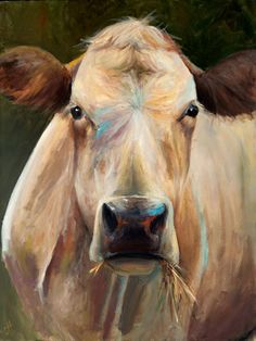 Cow Painting - Bridget Canvas Print of an original painting 12x16. $78.00, via Etsy.