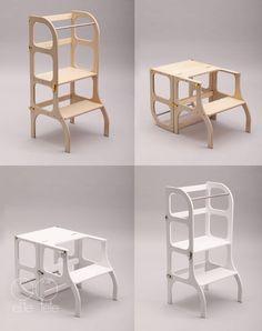 Helfer-Turm / Tisch / Stuhl all-in-One Step'n