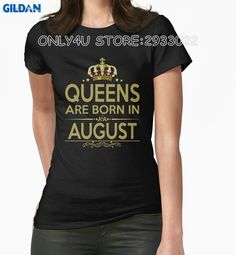 >> Click to Buy << Gildan Only4U Bulk T Shirts Crew Neck New Style Short Sleeve Queen Are Born In August Tee Shirts #Affiliate