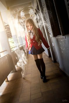 cosplay-soul:Taiga Aisaka | Toradora! - I would never pass off Taiga since my chest isn't flat enough (technically, I could bind it...) but this is so cool like wow. actually.