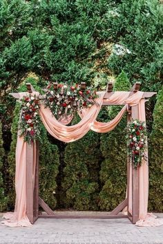 sutherland estate wedding ceremony raleigh wedding photographer wedding ceremony with fabric draping mauve wedding colors ceremony arch with florals photo burgundy wedding Sutherland Wake Forest Wedding Venue Photos Forest Wedding Venue, Wedding Ceremony Backdrop, Ceremony Arch, Wedding Venues, Wedding Ideas, Arch For Wedding, Budget Wedding, Wedding Trends, Wedding Planning