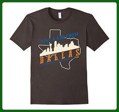 Mens Just A Kid From Dallas T-shirt Retro Vintage Style Medium Asphalt - Retro shirts (*Amazon Partner-Link)