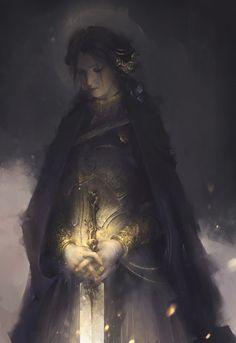 Character Concept, Character Art, Character Design, Fantasy Warrior, Fantasy Art, Golden Flower, Fantasy Illustration, Illustrations, Medieval Fantasy