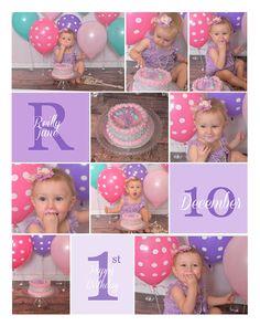 First Birthday Cake Smash Collage  https://www.facebook.com/fairytalephotographybylisa