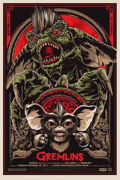 Gremlins - Affiches de films retravaillées par Ken Taylor