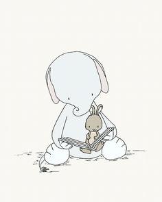 elephant and bunny - Buscar con Google