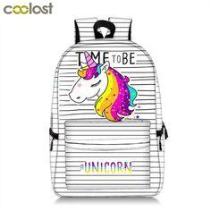 fb9a3cb637 %5 Unicorn Students Backpack Cartoon Panda Children School Bags Backpack  for Teenager