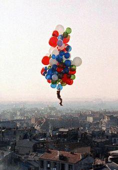 Final scene of The Red Balloon (Le Ballon rouge) by Albert Lamorisse, 1956