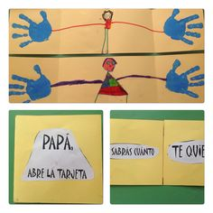 Tarjeta para el día del padre. Alumnos 4 años. Colegio Nuestra Sra. Santa María. Madrid.