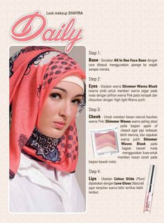 Tips Make Up Daily Shafira Fashion And Beauty Tips, Muslim Fashion, Fashion Brand, Beauty Hacks, Make Up, Pink, Collection, Style, Swag