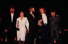 the beatles induction 1988 Julian Lennon, Stuart Sutcliffe, Yoko Ono, Ringo Starr, George Harrison, Paul Mccartney, Rock And Roll, Music, The Beatles