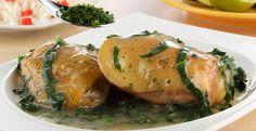 Pollo con espinacas y perejil #CuidarseEsDisfrutar