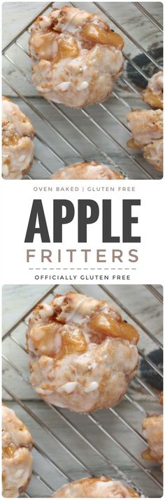 Baked Apple Fritters Gluten Free Gluten Free Baked Apple Fritters Fritter Related Post The ultimate brownies Chocolate Raspberry Trifle Recipe: Layers of choco. Ghosts in the Graveyard Dessert Shooters – I. Gluten Free Doughnuts, Gluten Free Deserts, Gluten Free Sweets, Foods With Gluten, Gluten Free Cooking, Baked Doughnuts, Gf Recipes, Dairy Free Recipes, Apple Recipes