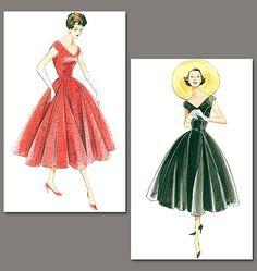 Patron de robe et ceinture vintage 1957 - Vogue 1172