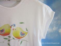 Koszulka z nadrukiem w Ewelinaart na DaWanda.com
