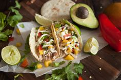 Garlic Lime Chicken Street Tacos #recipe via It's Raining Chocolate Chips & Toffee Bits http://www.yummly.com/recipe/Garlic-Lime-Chicken-Street-Tacos-1564084