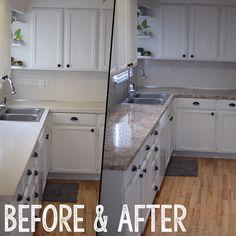 Easy Kitchen Makeover! Instant granite!