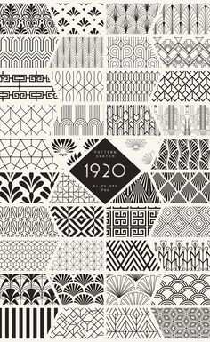 Diseños y Texturas 1920 Art Deco Seamless Patterns by The Paper Town on Creative Market you can find similar pins below. Motif Art Deco, Art Deco Design, Art Designs, Art Deco Style, Art Nouveau Pattern, Wall Design, Creative Market, Zentangle Patterns, Paper Patterns