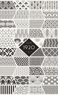 Diseños y Texturas 1920 Art Deco Seamless Patterns by The Paper Town on Creative Market you can find similar pins below. Motifs Art Nouveau, Motif Art Deco, Art Deco Design, Art Designs, Art Deco Style, Art Nouveau Pattern, Creative Market, Zentangle Patterns, Zentangles
